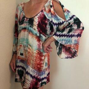 ✨FINAL MARKDOWN✨PARKER silk flowy pattern dress